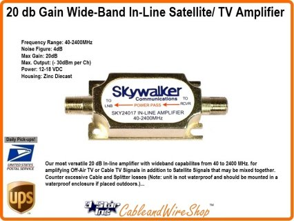 20 db Gain Wide-Band In-Line