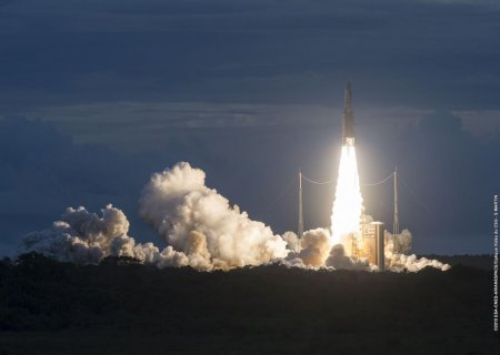 The Ariane 5 rocket lifted off