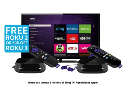 Roku 2 Free Sling TV Deal