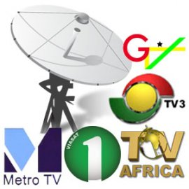 Ghanaian free-to-air TV stations available on satellite