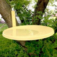 Repurposed Satellite Dish Birdbath