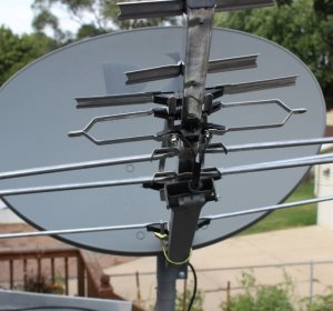 Homemade satellite TV antenna